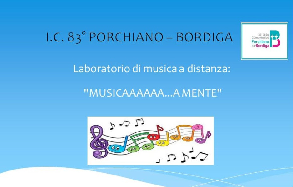 Laboratorio di musica a distanza: